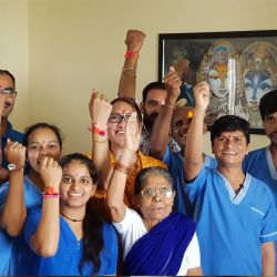 papayacare team celebrate rakhi